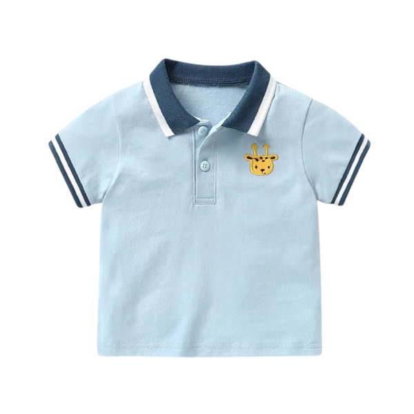 Soft Polo Top Giraffe
