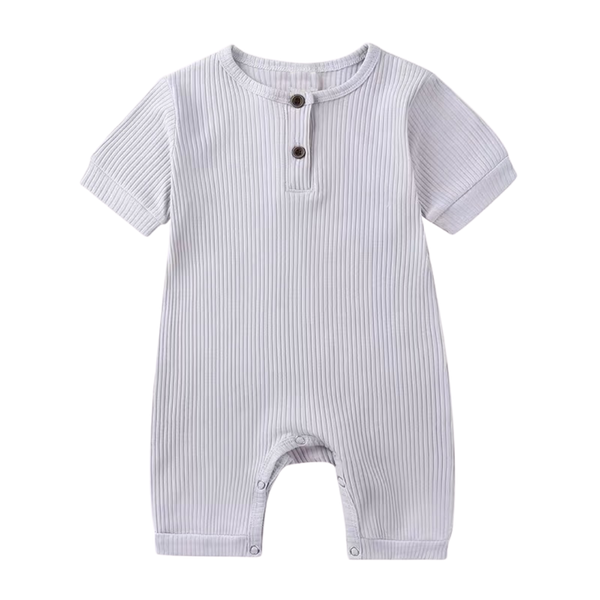 Stretchy Ribbed Cotton Bodysuit Slate