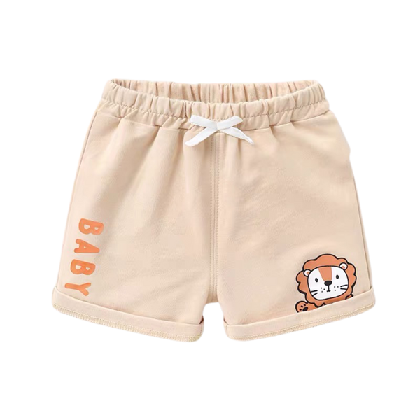 Summer Cotton Shorts Lion