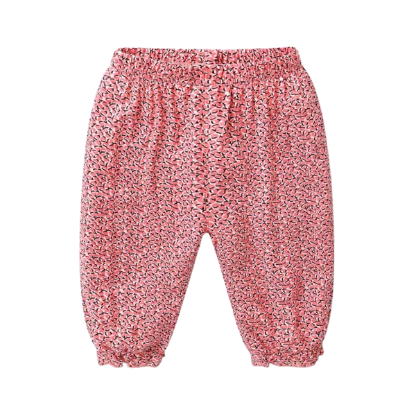 Summer Frill Pants Pink