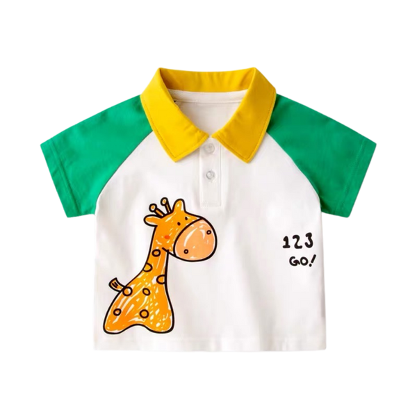 Summer Polo Shirt Giraffe