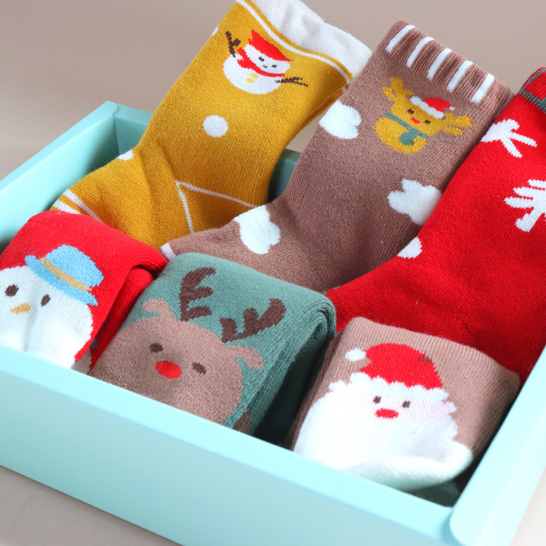 6 Packs Christmas Jolly Socks