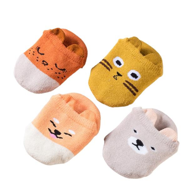 4-Pack Animal Cutie Series Socks