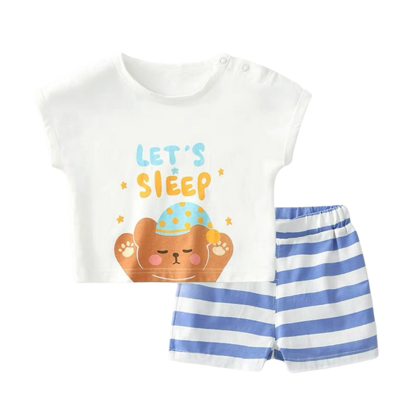 Bob Tee Shorts Set Sleepy Bear