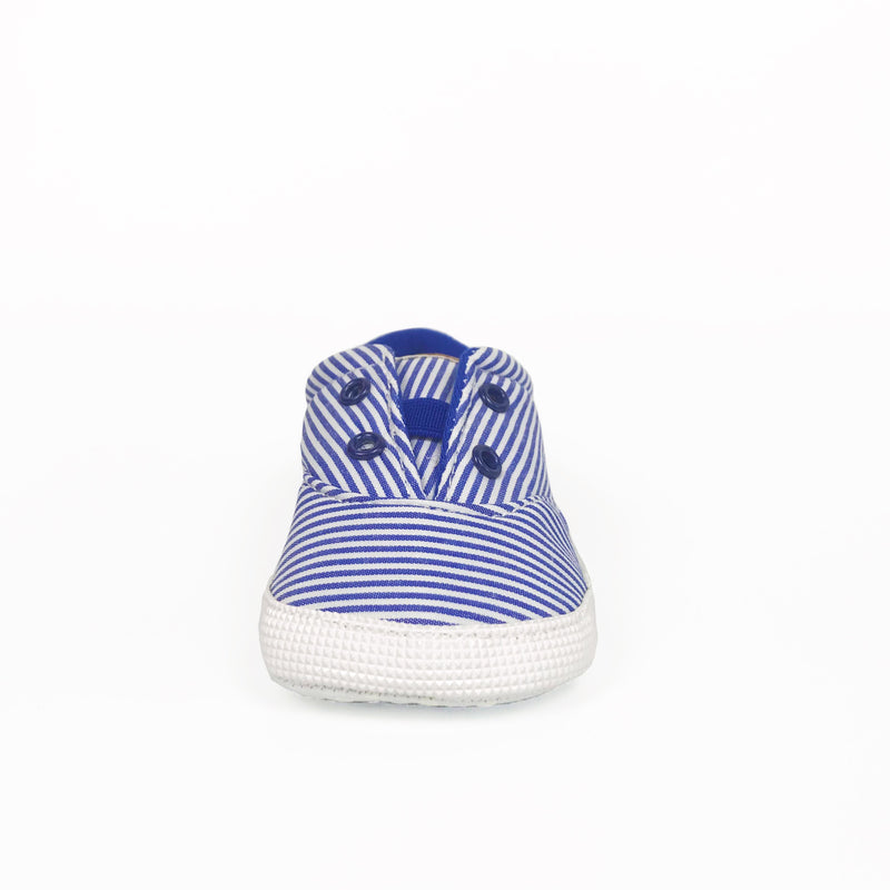 Blue and White Stripe Sneakers