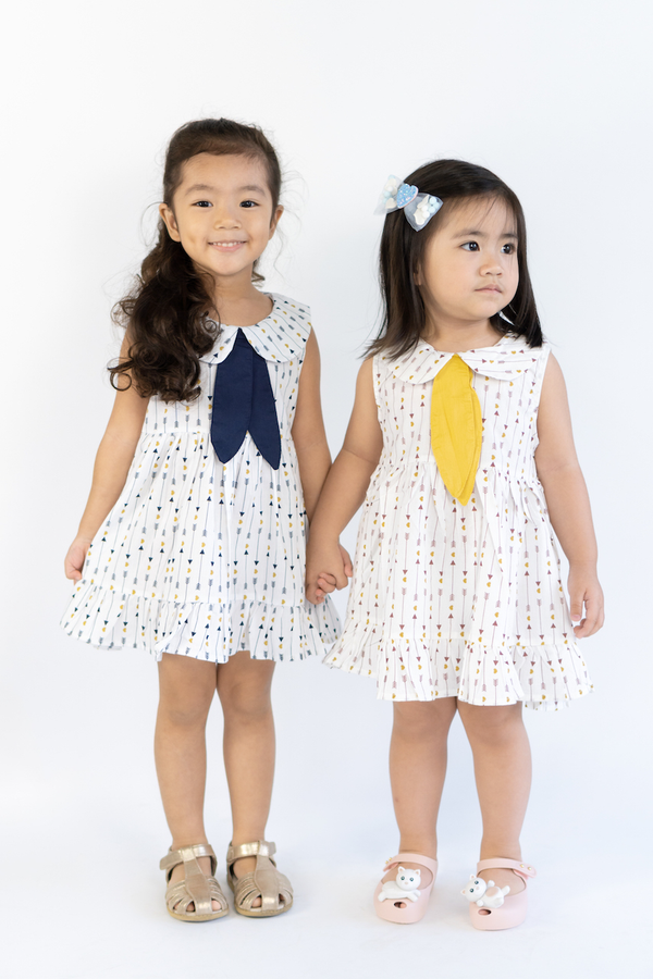 Bow and Arrow Heart Navy Dress