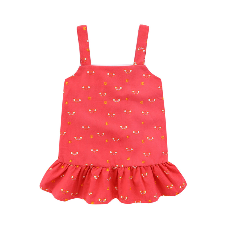 Cutie Fortune Mouse Ruffled Hem Dress
