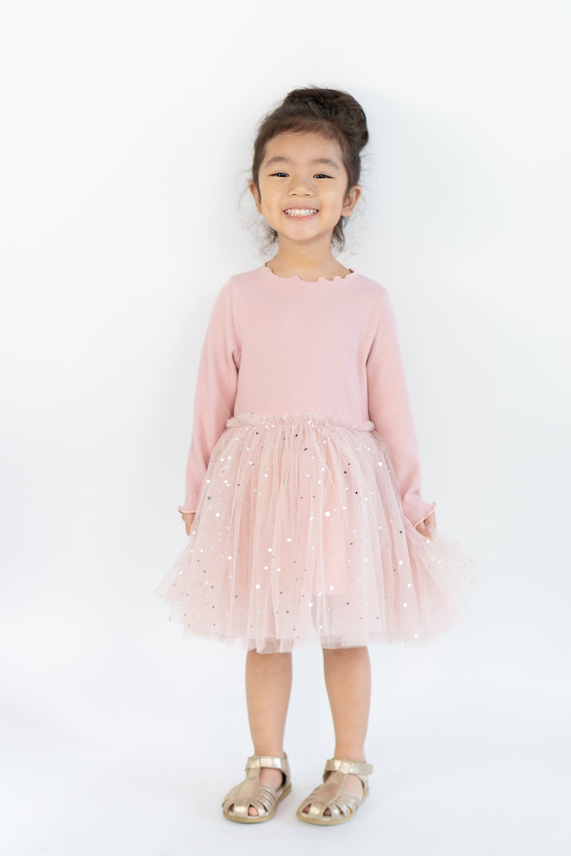 Elsa Tulle Dress in Blush Pink
