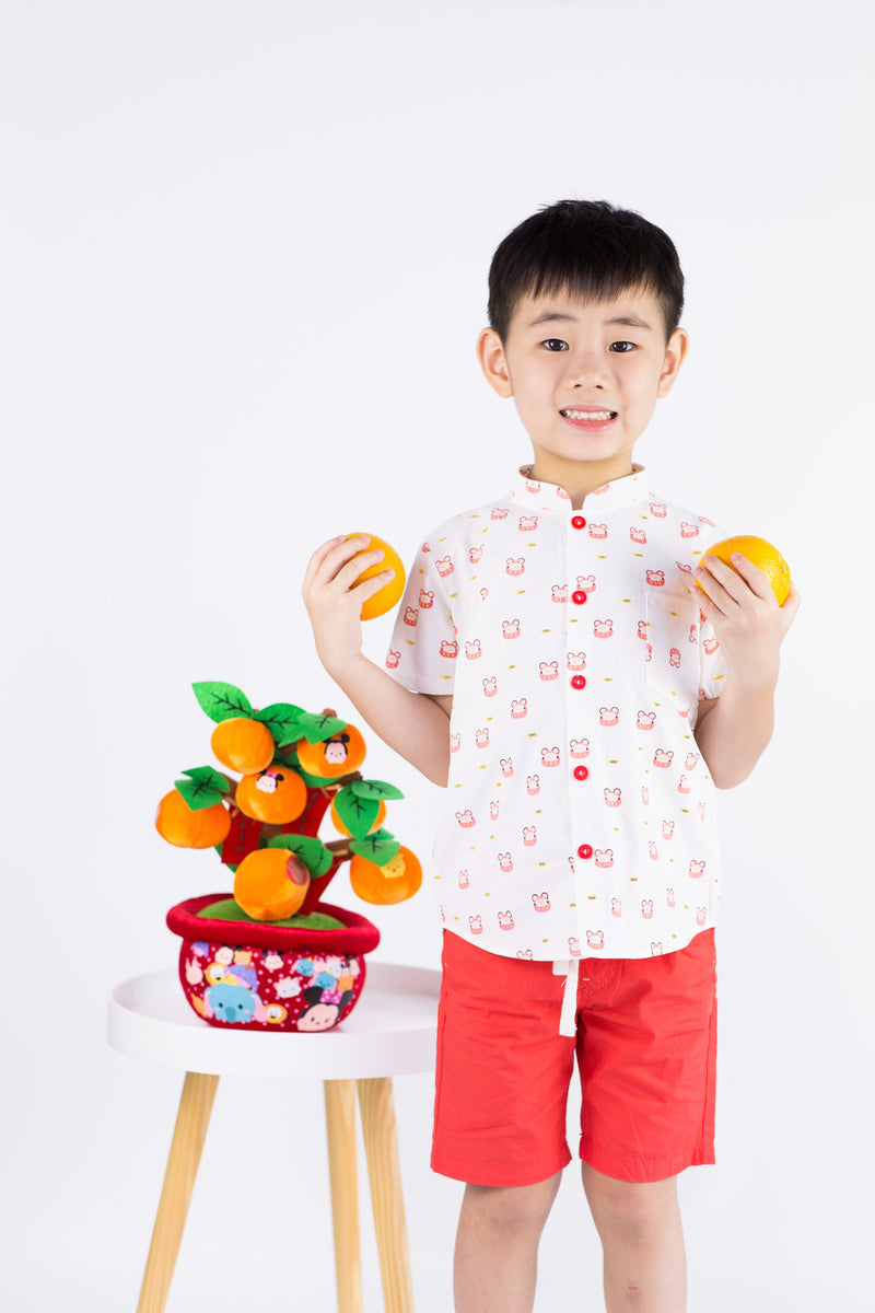 Fortune Mouse Mandarin Collar Shirt