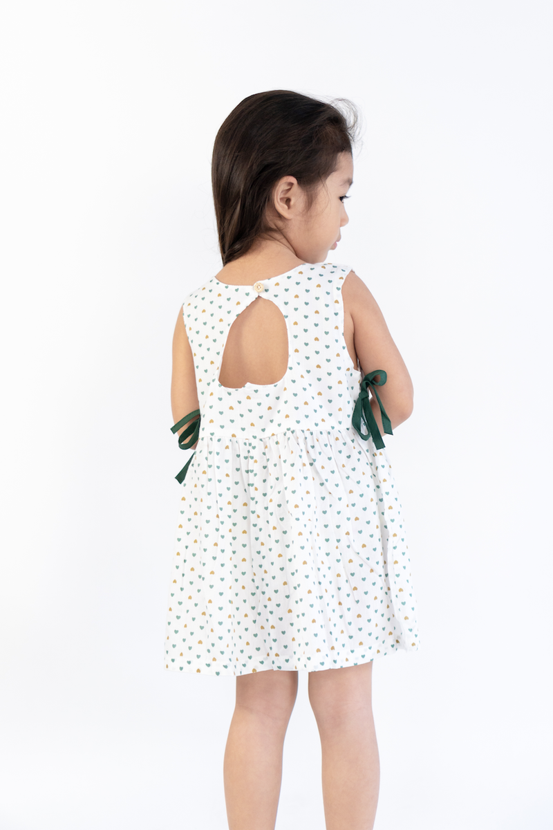 Hazel Heart Dress with Back Hole