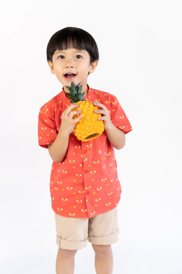 Huat Fortune Mouse Mandarin Collar Shirt