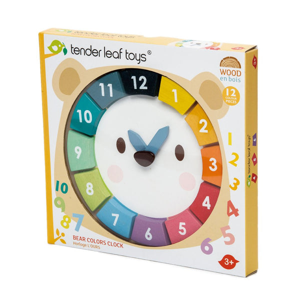 Bear Rainbow Colors Clock