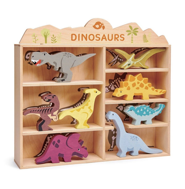 Dinosaurs + Display Wood Shelf with Skeleton Prints