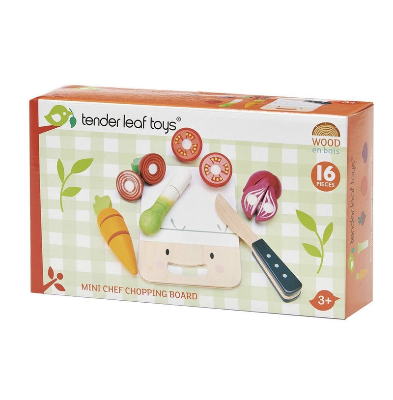 Cute Mini Chef Chopping Board w Vegetables