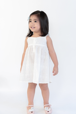 Kiki White Eyelet Dress