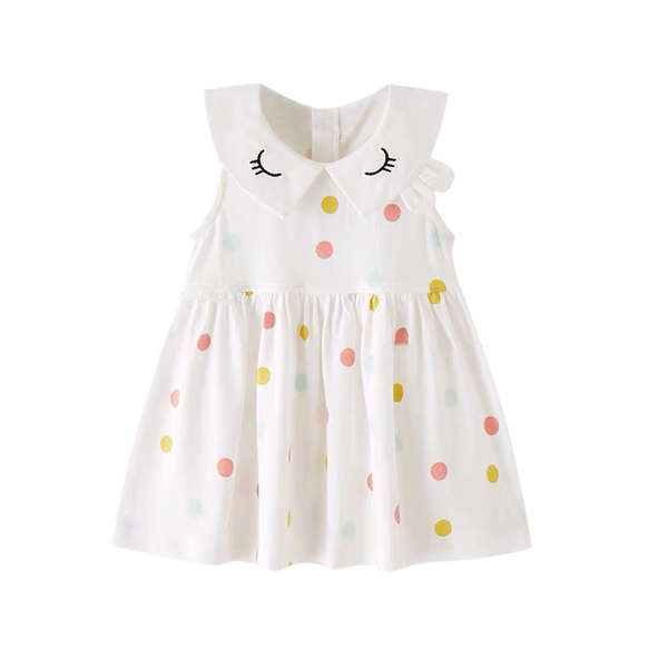 Lashes Polka Dot Flare Dress