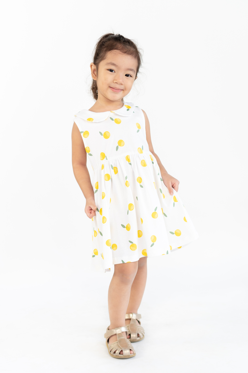 Madison Sunshine Peach Cotton Dress