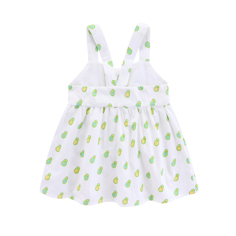 Sweet Avocado Crossback Dress