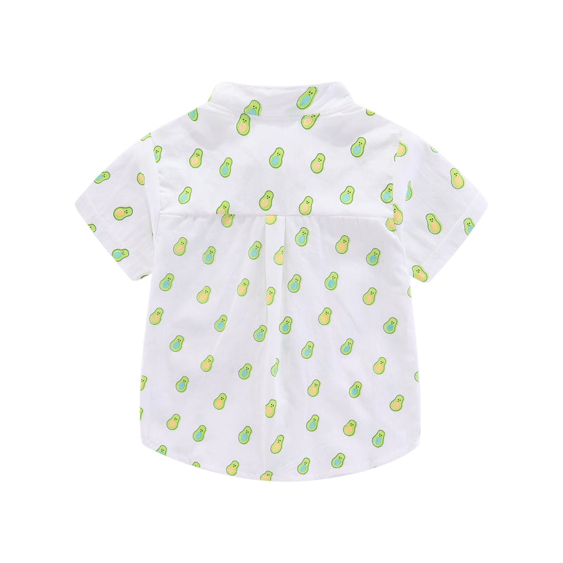 Sweet Avocado Mandarin Collar Shirt