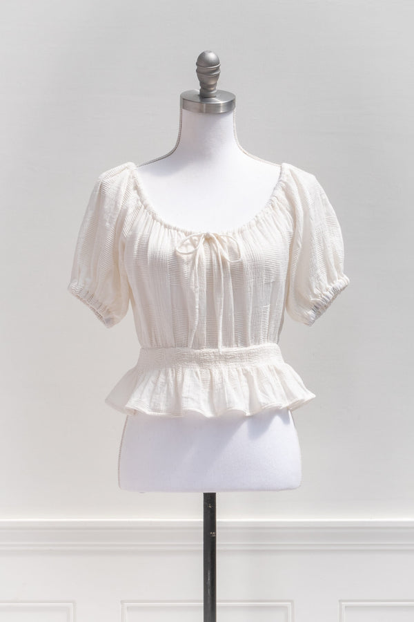 Guinevere Peasant Blouse