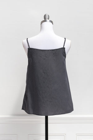 Emily Dot Camisole - Black