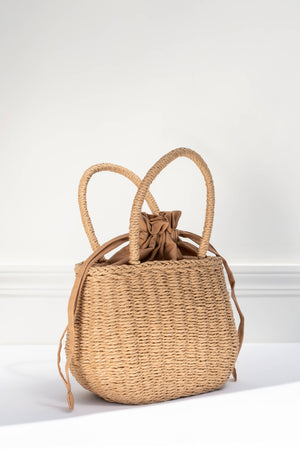 cute spring summer woven straw cottagecore bag purse