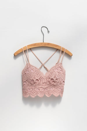 Bella Lace Bralette - Blush
