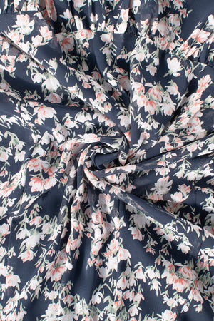 Floral dress, chiffon material. Cottagecore style.