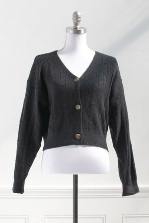 Black Cardigan French Inspired Clothing