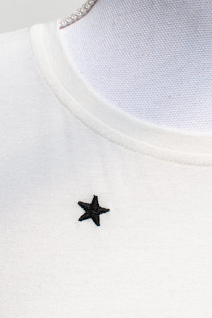 embroidered star detail feminine shirt french and romantic