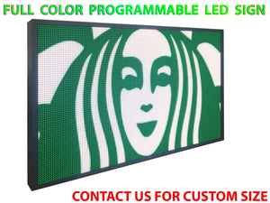 "Full Color 19""  x 50"" Digital Image Video Text Display Open Neon Programmable Business Store Shop Led Sign Board - Deol Display Systems Neon Open Led Signs"