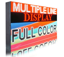 "Load image into Gallery viewer, Full Color 19""  x 63"" Digital Image Video Text Display Open Neon Programmable Business Store Shop Led Sign Board - Deol Display Systems Neon Open Led Signs"