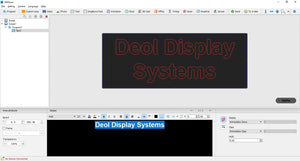 HD player : Full color software, use for A60X/Ax/A30/A30+/Cx5/Cx0/Dx5/Dx0/T901 parameters setting, edit and upgrade program - Deol Display Systems