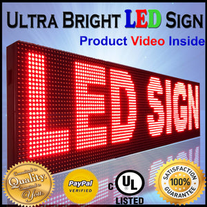"12"" X 38"" RED COLOR DIP LED SIGN PROGRAMMABLE SHOP OPEN DISPLAY BOARD"