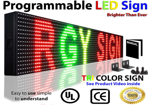 WiFi MULTI-COLOR LED SIGN MOBILE PC PROGRAMMABLE 6