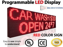 "Load image into Gallery viewer, 12"" X 25"" RED COLOR DIP LED SIGN PROGRAMMABLE SHOP OPEN DISPLAY BOARD - Deol Display Systems"