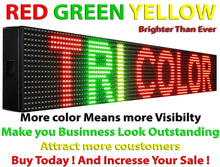 "Load image into Gallery viewer, WiFi TRI-COLOR 12"" X 38""  LED SIGN MOBILE PC PROGRAMMABLE NEON GRAPHIC DISPLAY - Deol Display Systems Neon Open Led Signs"