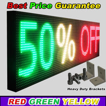 "Load image into Gallery viewer, WiFi TRI-COLOR 25"" X 50""  LED SIGN MOBILE PC PROGRAMMABLE NEON GRAPHIC DISPLAY - Deol Display Systems Neon Open Led Signs"