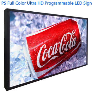 "5MM Pitch Full Color Full HD Video Image Display Board 15"" x 38"""