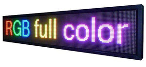 "Neon Open 6"" x 9ft Full Color Digital Outdoor Indoor Business Shop Store Led Sign Programmable Still Scrolling Text Animation Display - Deol Display Systems Neon Open Led Signs"