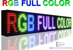 "Neon Open 6"" x 13ft Full Color Digital Outdoor Indoor Business Shop Store Led Sign Programmable Still Scrolling Text Animation Display - Deol Display Systems Neon Open Led Signs"