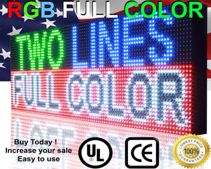 "Full Color 15""  x 50"" Digital Open Neon Programmable Business Store Shop Led Sign Board - Deol Display Systems Neon Open Led Signs"