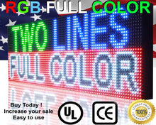 "Load image into Gallery viewer, Full Color 12""  x 76"" Digital Open Neon Programmable Business Store Shop Led Sign Board - Deol Display Systems Neon Open Led Signs"