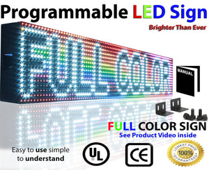 "Neon Open 6"" x 12ft Full Color Digital Outdoor Indoor Business Shop Store Led Sign Programmable Still Scrolling Text Animation Display - Deol Display Systems Neon Open Led Signs"