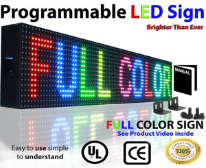 "Neon Open 6"" x 101"" Full Color Digital Outdoor Indoor Business Shop Store Led Sign Programmable Still Scrolling Text Animation Display - Deol Display Systems Neon Open Led Signs"