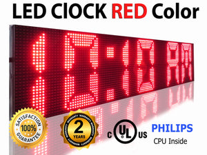 "12"" X 38"" RED COLOR DIP LED SIGN PROGRAMMABLE SHOP OPEN DISPLAY BOARD - Deol Display Systems"