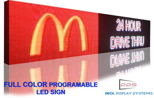 "Full Color 19""  x 101"" Digital Image Video Text Display Open Neon Programmable Business Store Shop Led Sign Board - Deol Display Systems Neon Open Led Signs"