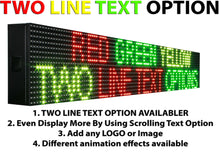 "Load image into Gallery viewer, WiFi TRI-COLOR 25"" X 63""  LED SIGN MOBILE PC PROGRAMMABLE NEON GRAPHIC DISPLAY - Deol Display Systems Neon Open Led Signs"