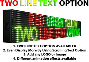 "WiFi TRI-COLOR 25"" X 76""  LED SIGN MOBILE PC PROGRAMMABLE NEON GRAPHIC DISPLAY - Deol Display Systems Neon Open Led Signs"