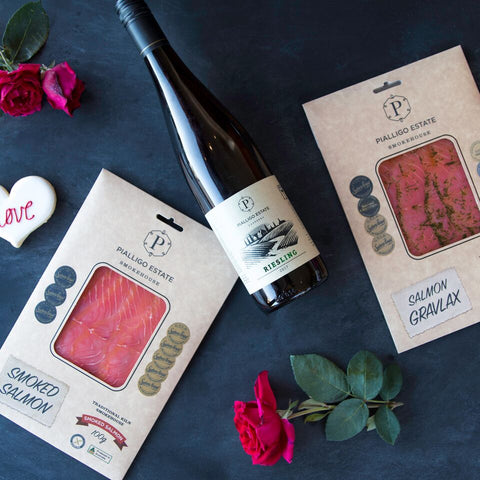 Salmon, Wine and Love $60 Note PICK UP ONLY